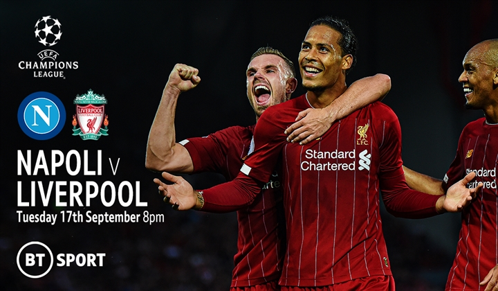 Freshers - Champions League Football Napoli vs Liverpool