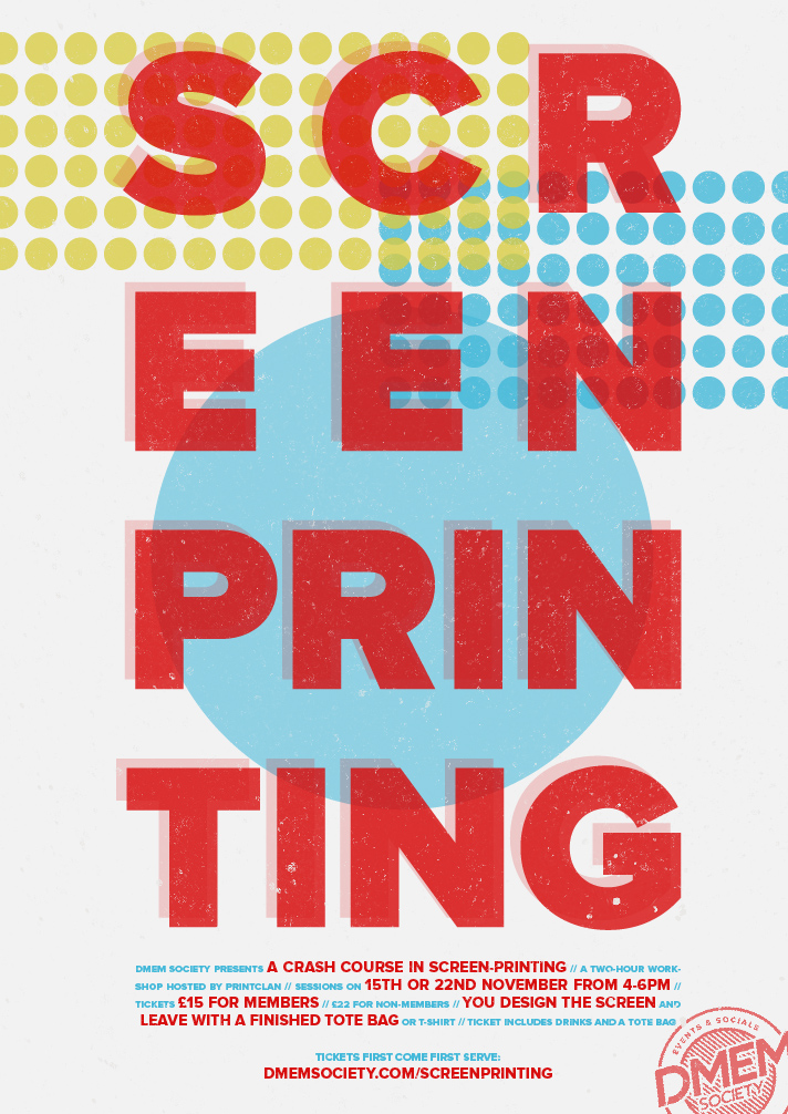 Screen-Printing Workshop | DMEM Society