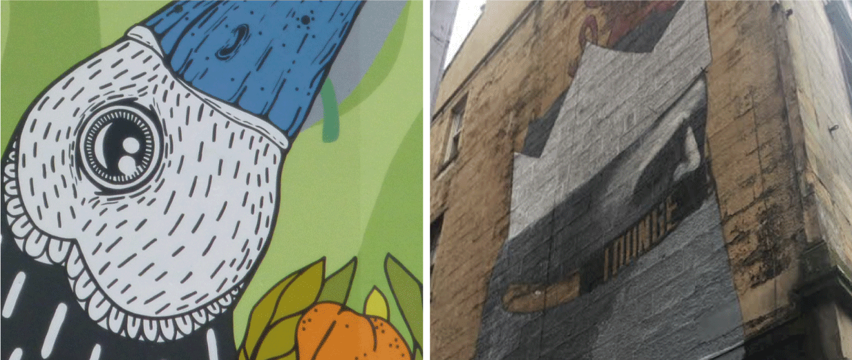Charing Cross Birds and The Lost Giant Mural