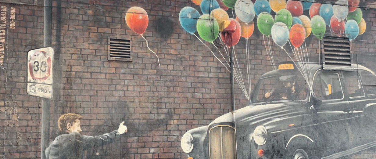 The World's Most Economical Taxi Mural