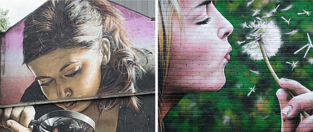 Honey I Shrunk The Kids and Wind Power Murals