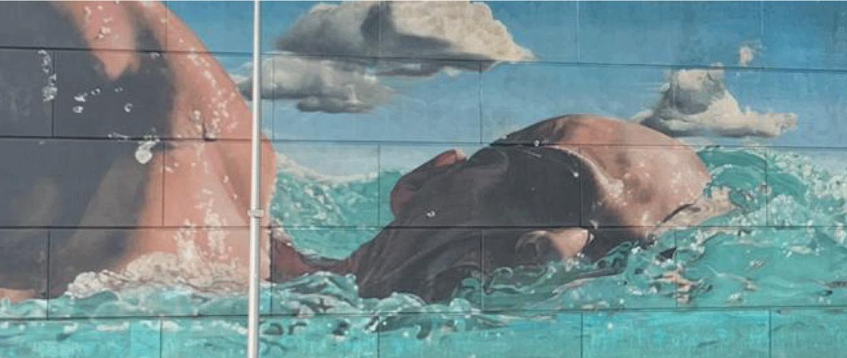 The Swimmer Mural